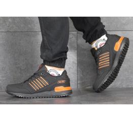 Купить Мужские кроссовки Adidas ZX 750 черные с оранжевым