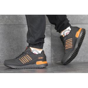 Мужские кроссовки Adidas ZX 750 черные с оранжевым