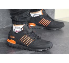 Купить Мужские кроссовки Adidas ZX 750 черные с оранжевым в Украине
