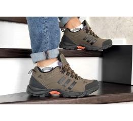Купить Мужские кроссовки на меху Adidas TERREX ClimaProof коричневые
