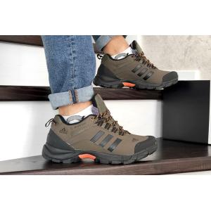 Мужские кроссовки на меху Adidas TERREX ClimaProof коричневые