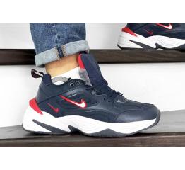 Купить Мужские кроссовки на меху Nike M2K Tekno темно-синие с белым