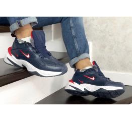 Купить Мужские кроссовки на меху Nike M2K Tekno темно-синие с белым в Украине