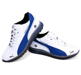 Мужские кроссовки на меху Puma BMW Motorsport белые с синим