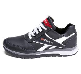 Мужские кроссовки на меху Reebok черные с белым