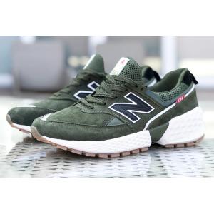 Мужские кроссовки New Balance 574 Sport v2 зеленые