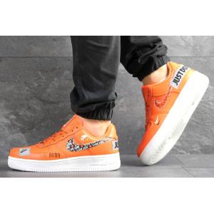 Мужские кроссовки Nike Air Force 1 Just Do It оранжевые
