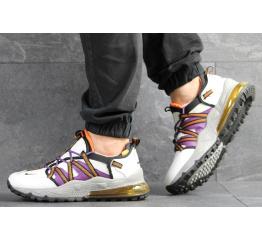 Мужские кроссовки Nike Air Max 270 Bowfin белые с фиолетовым