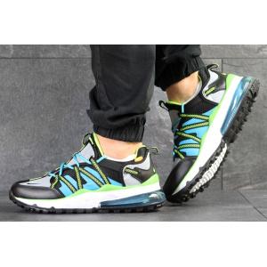 Мужские кроссовки Nike Air Max 270 Bowfin серые с зеленым и голубым