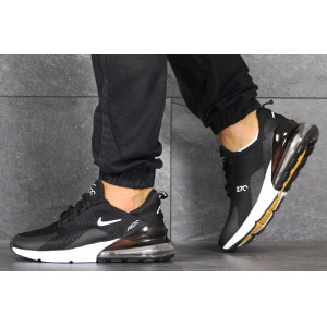 Мужские кроссовки Nike Air Max 270 черные с белым