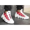 Мужские кроссовки Nike Air More Money белые с красным