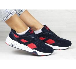 Женские кроссовки Puma Trinomic R698 темно-синие с красным