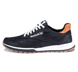 Мужские туфли сникеры Reebok Classic Leather Lux черные