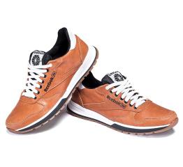 Мужские туфли сникеры Reebok Classic Leather Lux светло-коричневые