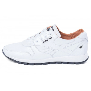 Мужские кроссовки Reebok Classic Leather Lux White Pearl белые