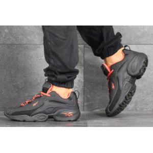 Мужские кроссовки Reebok DMX черные с оранжевым