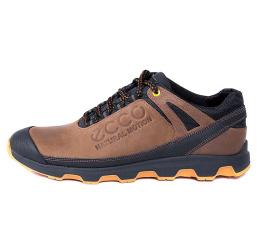 Мужские туфли сникеры Ecco коричневые