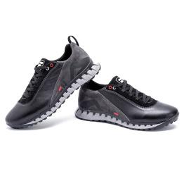 Купить Чоловічі туфлі снікери Fila чорні з сірим в Украине