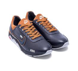 Мужские туфли сникеры Nike черные с коричневым