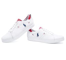 Мужские туфли сникеры Polo Classic белые