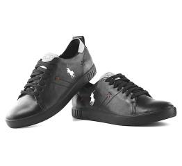 Купить Мужские туфли сникеры Polo Classic черные в Украине