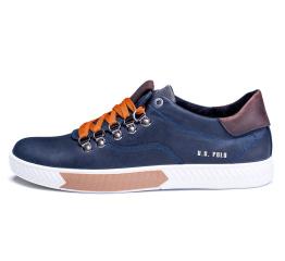 Купить Мужские туфли сникеры Polo синие