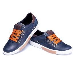 Купить Мужские туфли сникеры Polo синие в Украине