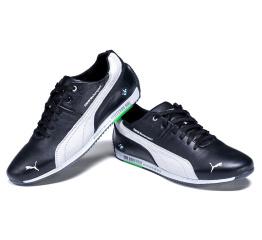 Мужские туфли сникеры Puma BMW MotorSport черные с белым
