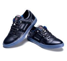 Мужские туфли сникеры Reebok черные с синим