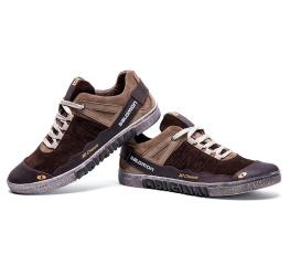 Мужские туфли сникеры Salomon коричневые