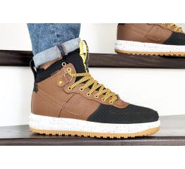 Купить Мужские высокие кроссовки Nike Lunar Force 1 Duckboot коричневые с черным