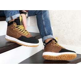 Купить Мужские высокие кроссовки Nike Lunar Force 1 Duckboot коричневые с черным в Украине