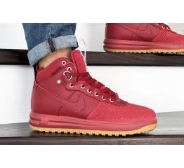 Купить Мужские высокие кроссовки Nike Lunar Force 1 Duckboot красные