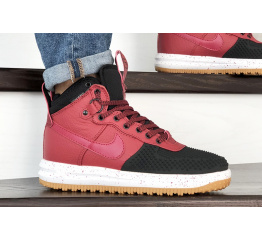 Купить Мужские высокие кроссовки Nike Lunar Force 1 Duckboot красные с черным