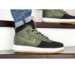 Купить Мужские высокие кроссовки Nike Lunar Force 1 Duckboot зеленые с черным