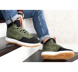 Купить Мужские высокие кроссовки Nike Lunar Force 1 Duckboot зеленые с черным в Украине