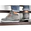 Мужские высокие кроссовки на меху Reebok Classic Leather Mid серые