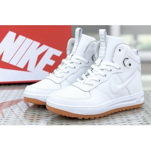 Мужские высокие кроссовки Nike Lunar Force 1 белые