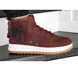 Купить Мужские высокие кроссовки Nike SF Air Force 1 Mid бордовые