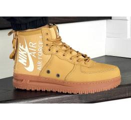 Купить Мужские высокие кроссовки Nike SF Air Force 1 Mid горчичные
