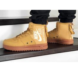 Купить Мужские высокие кроссовки Nike SF Air Force 1 Mid горчичные в Украине