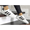 Женские кроссовки Adidas Gazelle белые с черным