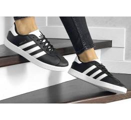 Купить Женские кроссовки Adidas Gazelle черные с белым