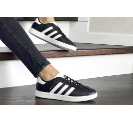 Купить Женские кроссовки Adidas Gazelle черные с белым в Украине