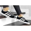 Женские кроссовки Adidas Gazelle черные с серым