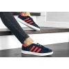 Женские кроссовки Adidas Gazelle темно-синие с красным