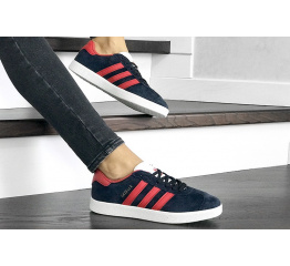 Купить Жіночі кросівки Adidas Gazelle темно-сині з червоним в Украине