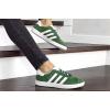 Женские кроссовки Adidas Gazelle зеленые с белым