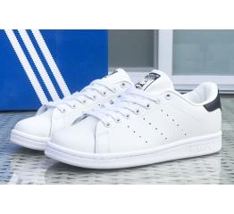 Купить Женские кроссовки Adidas Stan Smith белые с черным