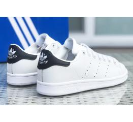 Купить Жіночі кросівки Adidas Stan Smith білі з чорним в Украине